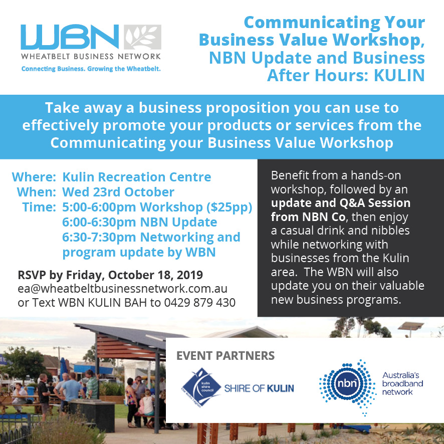 Business After Hours and NBN update in Kulin